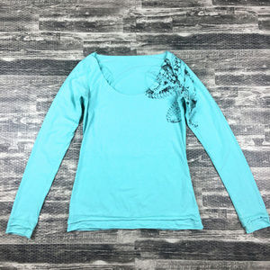 Lululemon On Off Shoulder Long Sleeve Top Sz 6/8